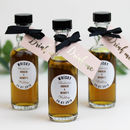 Personalised Whisky Filled Bottle Wedding Favours
