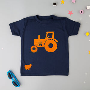 Personalised Kids Tractor T Shirt