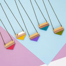 Colour Pop Bright Geometric Necklace