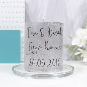 Personalised New Home Metallic Candle Gift - home accessories