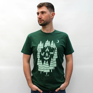 Organic Men's Foxes In The Forest T Shirt - men's fashion