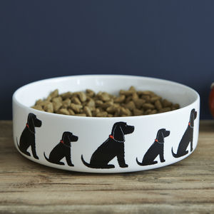 Black Cocker Spaniel Dog Bowl