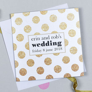 Spotty And Stripy Wedding Invitation