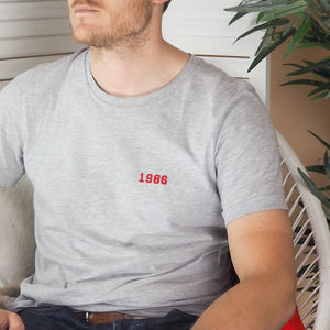 Mens Embroidered Year T Shirt