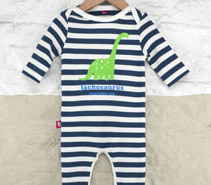 Personalised Dinosaur Babygrow - engagement gifts