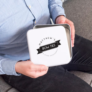 Personalised Men's Accessories Tin