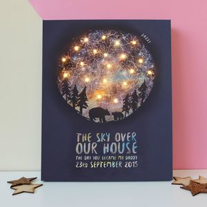 Personalised Light Up Map Of The Stars