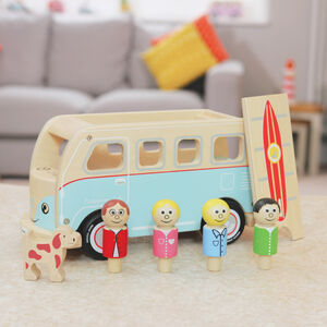 Classic Iconic Camper Van Wooden Toy