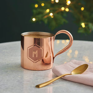 Personalised Geometric Copper Mug - secret santa gifts