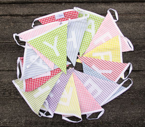 'Happy Birthday' Cotton Bunting - bunting & garlands