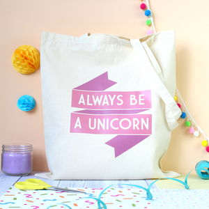 Always Be A Unicorn Pink Tote Bag