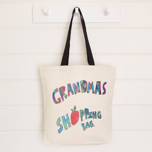 Canvas Bag Printed With Your Child's Drawing