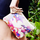 Rita Silk And Leather Clutch Bag