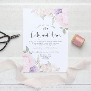 Summer Garden A5 Wedding Invitation