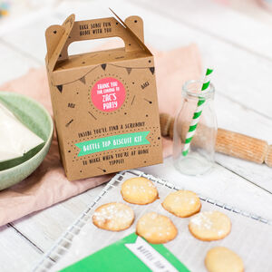 Milk Bottle And Biscuit Baking Party Bag