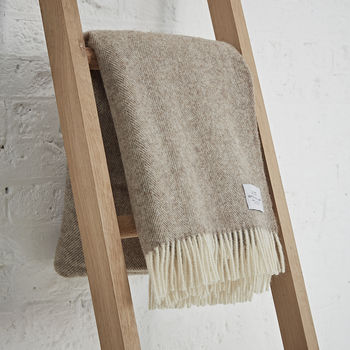 Pure Wool Brown Throw