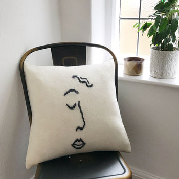 Abstract Face Sketch Cushion