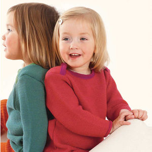 Organic Merino Wool Envelope Neck Baby Jumper - clothing