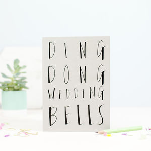 Ding Dong Wedding Bells Greetings Card - wedding cards & wrap