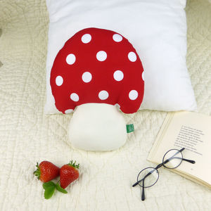 Mushroom Toadstool Shaped Pillow - children's room