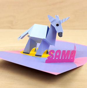 Personalised Pop Up Unicorn Birthday Card