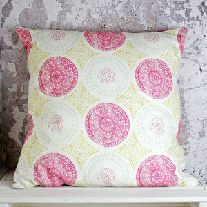 Retro Crochet Doily Handmade Cushion