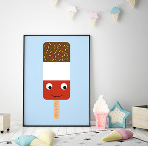 Ice Lolly Nursery Art Print