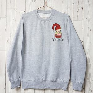 Personalised Christmas Selfie Elfie Sweatshirt - christmas sale
