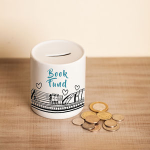Book Fund Money Pot - money boxes