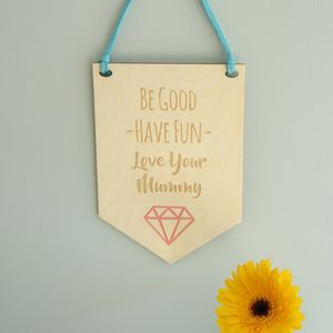 'Love Your Mummy' Wooden Nursery Sign / Wall Hanging - door plaques & signs