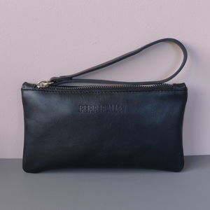Leather Purse With Satin Lining - purses & wallets