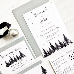 Winter Wedding Invitation Set - new in wedding styling