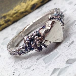 Silver Heart Ring - rings