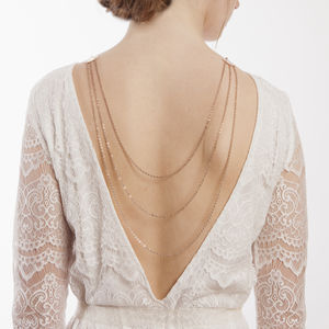Bridal Back Drape Necklace In Rose Gold - bridal jewellery
