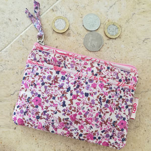 Pocket Purse In Pink Ditzy Print