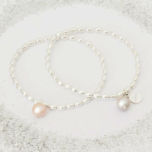 Serafina Personalised Pearl Bracelet - winter sale