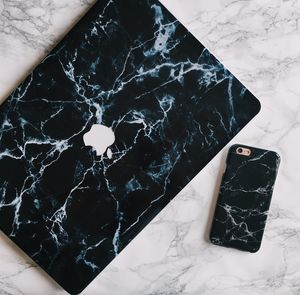 Black Marble iPhone Case And Macbook Skin - new in fashion