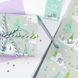 Christmas Gnome Wrapping Paper - wrapping