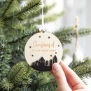 Personalised Night Sky Christmas Star Bauble Decoration