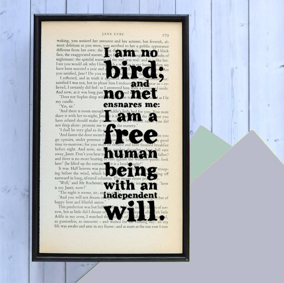 Quotes Jane Eyre I Am No Bird' Jane Eyre Book Quote Printbookishly