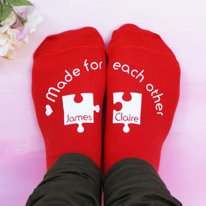 Personalised Made For Each Other Socks - valentine's gifts for her