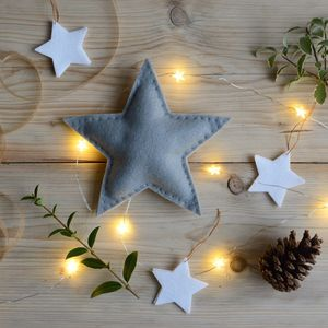 Christmas Star Tree Topper Grey - tree toppers