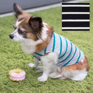 Breton Stripe Dog Vest With Colour Options
