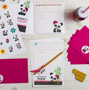 Personalised Panda Stationery Bundle
