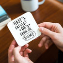 'Happy Father's Day From The Bump' Coaster
