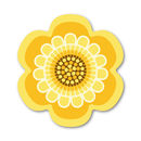 Flower Power Design Placemat - Yellow