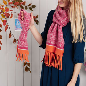 Mum And Me Knitted Scarf Set - womens