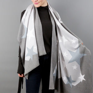 Personalised Cashmere Blend Star Shawl - new in fashion
