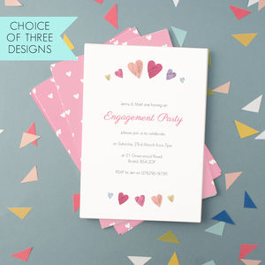 Personalised Engagement Party Invitations - engagement party invitations