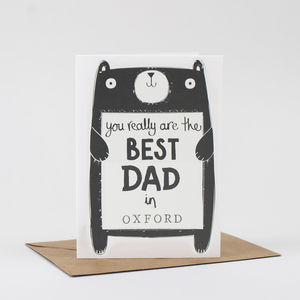 Best Dad Personalised Birthday Or Fathers Day Card